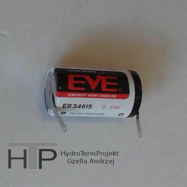 Bateria litowa ER34615 3,6V, 19Ah z wyjściem linka.